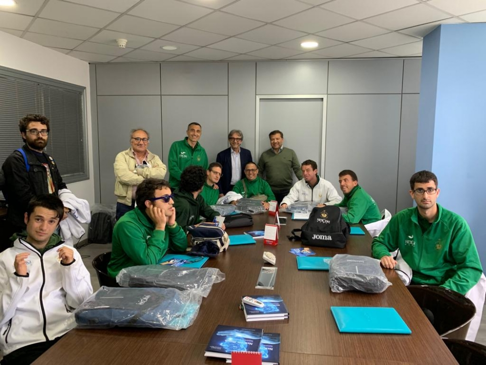 CANOTTAGGIO: L'ARS ROWING TEAM IN VISITA NEL QUARTIER GENERALE DI NETCOM GROUP