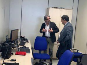 IL DEPUTATO RAFFAELE TOPO IN VISITA NEL QUARTIER GENERALE DI NETCOM GROUP