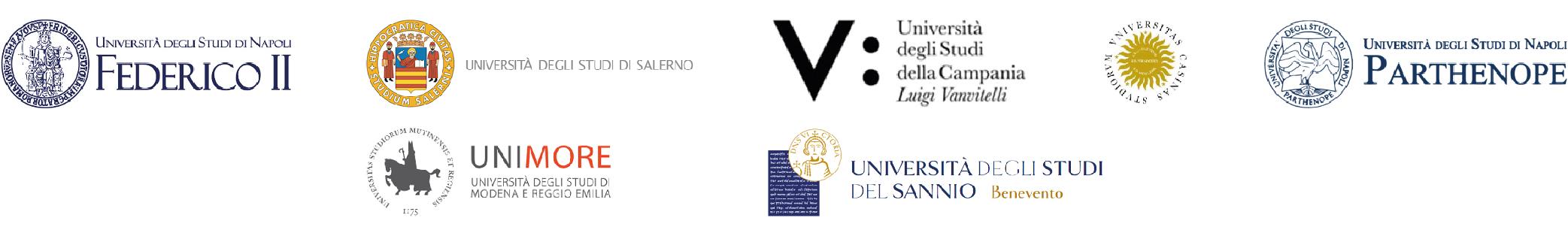 Partner universitari: Università di Napoli Federico II, Università degli studi di Salerno Unisa, Università di Napoli Vanvitelli, Università di Cassino