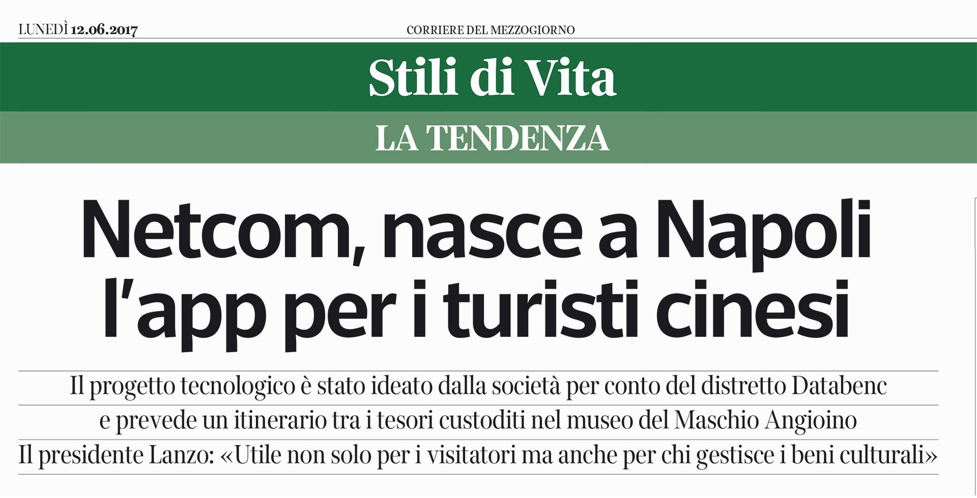 NETCOM, NASCE A NAPOLI L'APP PER I TURISTI CINESI