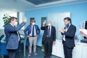NetCom Group: il governatore De Luca in visita nel quartier generale di Napoli