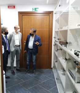 Mario Casillo, il consigliere regionale più votato in Campania in visita nel quartier generale di NetCom Group
