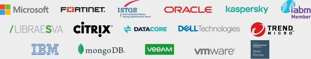 Partner: Microsoft, Fortinet, Oracle, Dropbox, Kaspersky